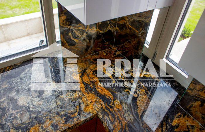 Blat kuchenny granitowy - granit Magma